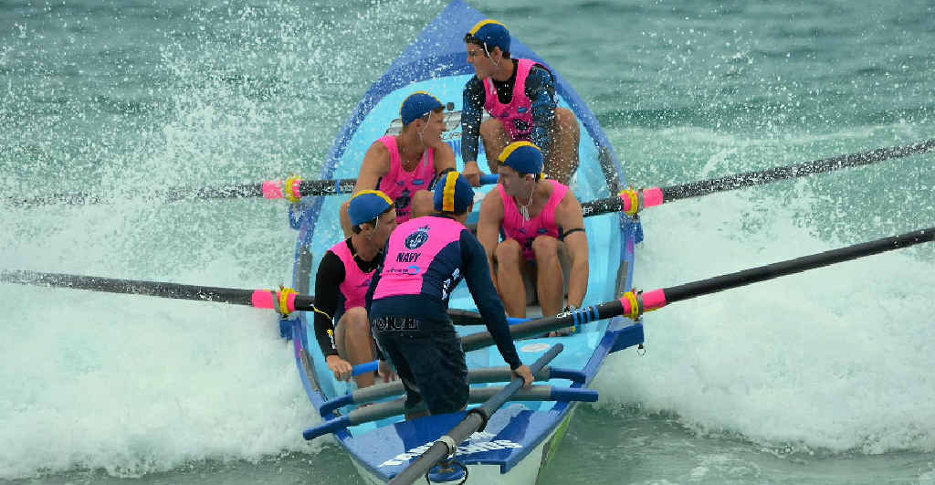 TALENT ON DISPLAY: Tannum Sands Surf Life Saving Club surf boat crews contested round one of the Queensland Cup recently at Coolum Beach.