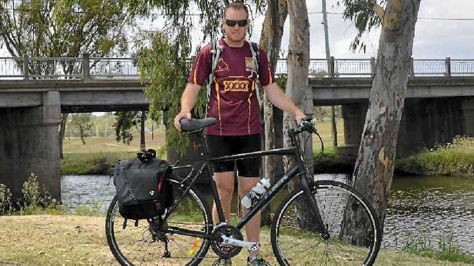 Cyclist Ryan Pickels has ridden from Gladstone to Sydney to raise money for the Cancer Council of Queensland.