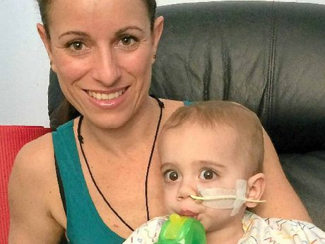 Sarah Smith says it will take eight to 12 weeks to make prosthetics for her son, Finn.