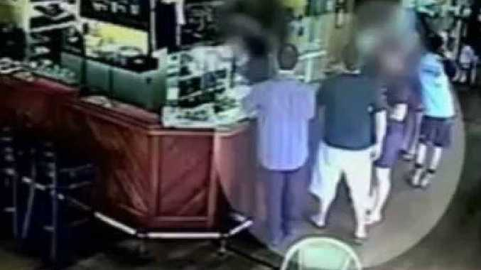 RIGHT: A photo allegedly showing the accused Sunshine Coast men dubbed the Yandina Five.