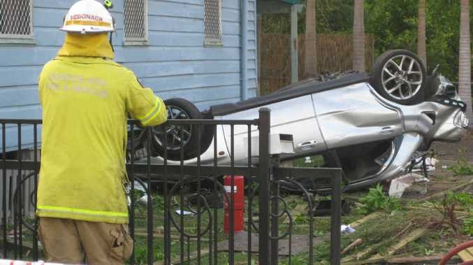 TRAGIC MATTER: Two cousins died in this crash on Glebe Rd, Booval, early New Year's Day 2013.