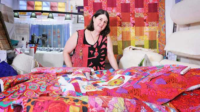 HELPING OUT: Karen Traise, of Rainbow Patchwork in South Lismore, will be holding a charity quilt day on Monday, where quilters are invited to come along and help make a quilt for charity.