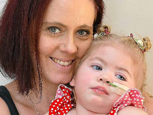 DETERMINED: Kerry Blake is trying to raise money for her daughter Pippa, 23 months, for treatment in America.