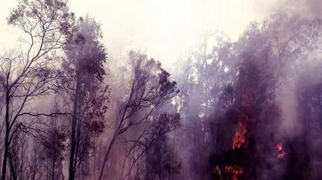 Backburning underway at the bushfire south of Millmerran.