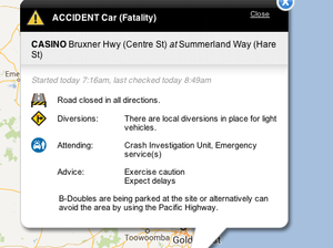 Serious accident closes Bruxner Highway at Casino