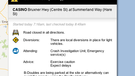 Information take from the Live Traffic NSW website.