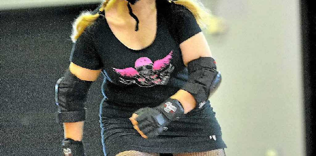 PRIMED: Donna McLoughlin, the Nordic Raider, gets back into roller derby action.