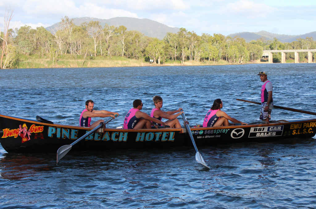 Emu Park Surf Life Saving, surf rowing team the Young Guns are battling it out in the Queensland Cup at Coolum on Saturday.