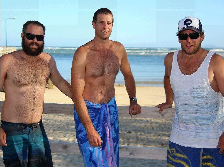 BEACH RESCUE: Luke Tutt, Dean Urquhart and Kade Welsh saved a young girl on Valla Beach.