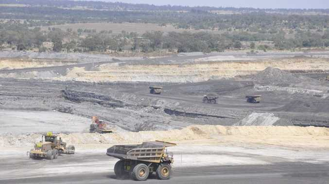 Coal mining activity at New Acland's centre pit.