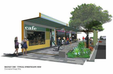 An Artist's impression of what the Mackay CBD upgrade will look like. Photo Contributed