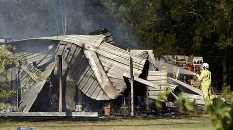 The Murphys Creek home destroyed by fire on Sunday afternoon.