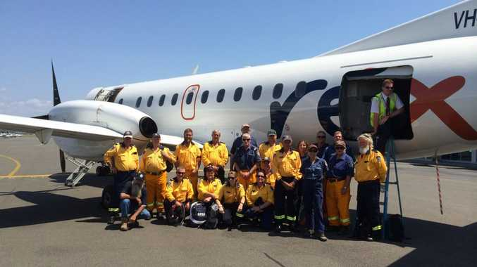 Members of the Northern Rivers and Far North Coast zones of the Rural Fire Service have been deployed to the fire grounds in South Australia. Photo contributed