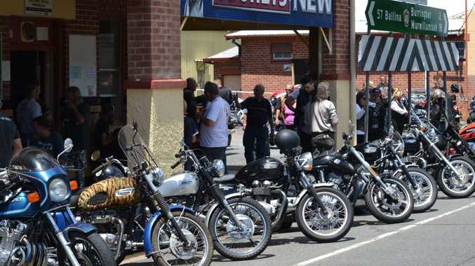 The Tweed Motorcycle Enthusiasts Club on its annual Kirra to Crams Farm ride on Sunday