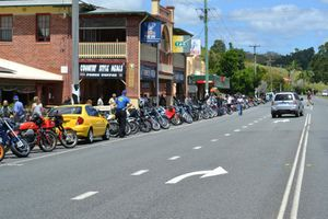 Tweed Motorcyle Enthusiasts Club on thier annual ride from Kirra to Cramms Farm on Sunday