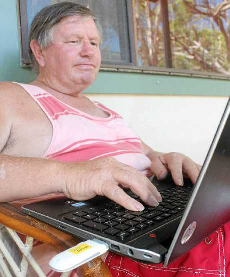 FRUSTRATED: East Ballina's David Carter is frustrated the Optus wireless internet has not been working regularly since before Christmas.