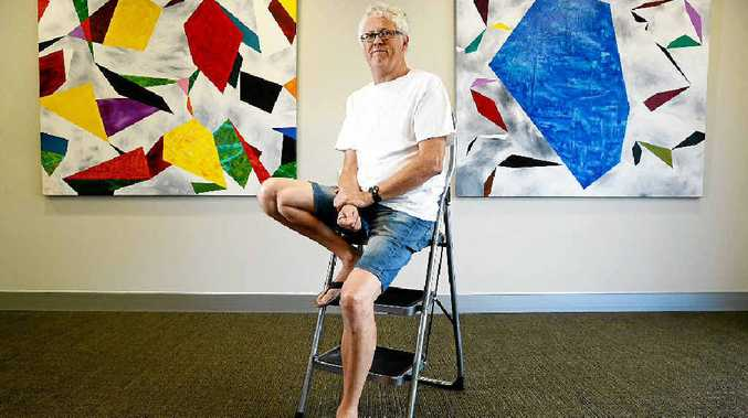 HEART WORK: Local Artist Noel Hart at The Byron Bay Gallery.