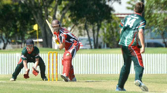 Deane Cox (batting) and his Norths team-mates enjoyed back-to-back wins in the Daily Mercury T20 Shootout at the weekend.