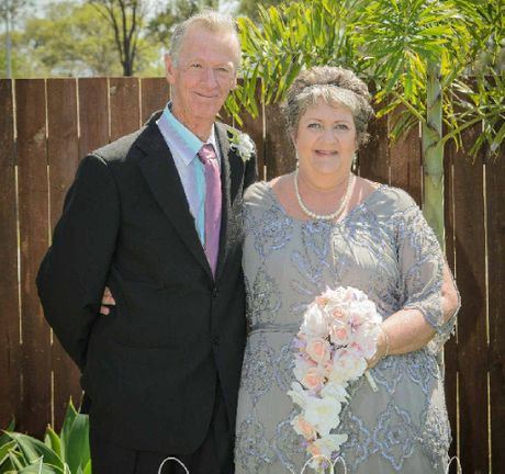 LONG ENGAGEMENT: Dave Willis and Corinne Walker tied the knot in December last year, after 34 years of being together.
