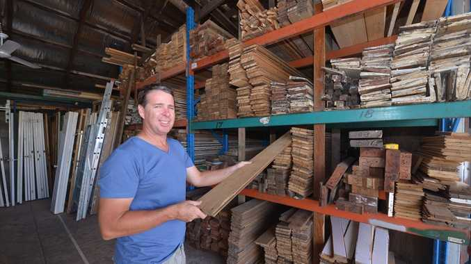 Grant Walker at his business in Nambour, Sunshine Coast Demolitions and Salvage.