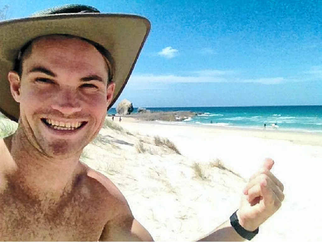 TOP FRIEND: Former Sunshine Coast man John Armstrong, who died in a tragic accident at Dalwood Falls, near Ballina.