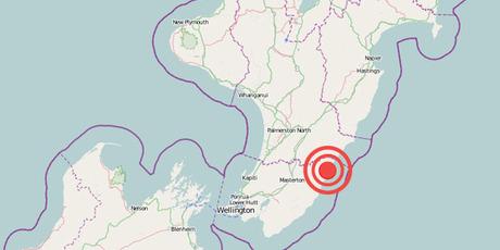 The centre of the quake zone