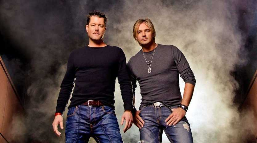 Australian country music duo McAlister Kemp, featuring Drew McAlister, left, and Troy Kemp will perform a special concert at the Tamworth Country Music Festival. Supplied by Universal Music Australia.