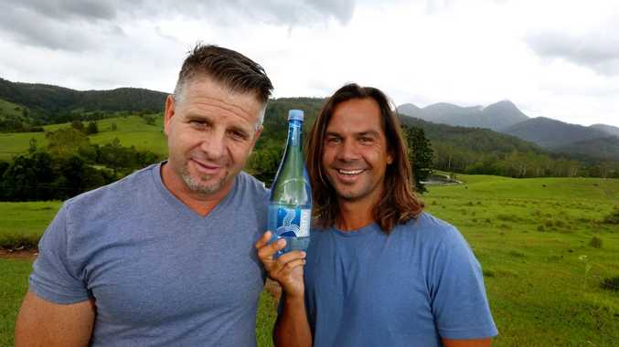 Shaun Martin and Josh Slabb from Yaru Water which is gathered from the base of Mount Warning.