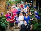 Coffs Harbour's 2014 Australia Day Award nominees get into the spirit of the national day. Photo: Trevor Veale / The Coffs Coast Advocate