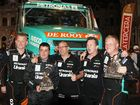 Iveco drivers celebrate second, seventh, 10th and 12th standings at the end of the 2014 Dakar Rally. Photo Contributed