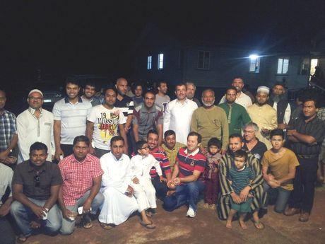 The city's Islamic community celebrates the opening last week.