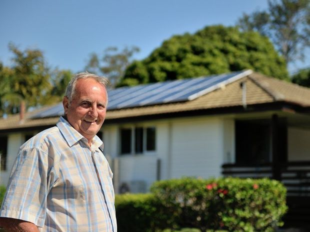 BIG SAVER: Peter Hawkins is making money since he switched to solar power.