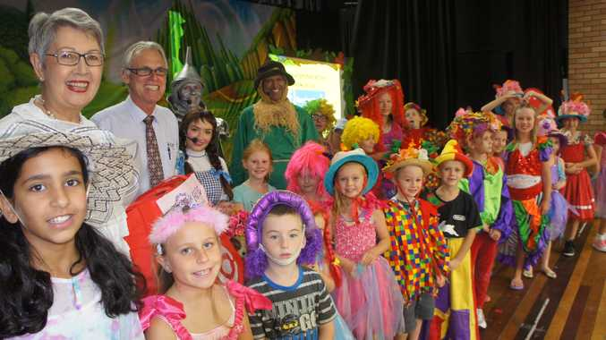 There was excitement everywhere as the Wizard of Oz workshop and show came to town yesterday.