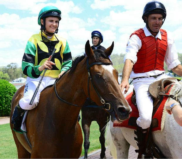 LOVING IPSWICH: Maija Vance and Robert's Command return to the winner's enclosure at Ipswich on Friday.