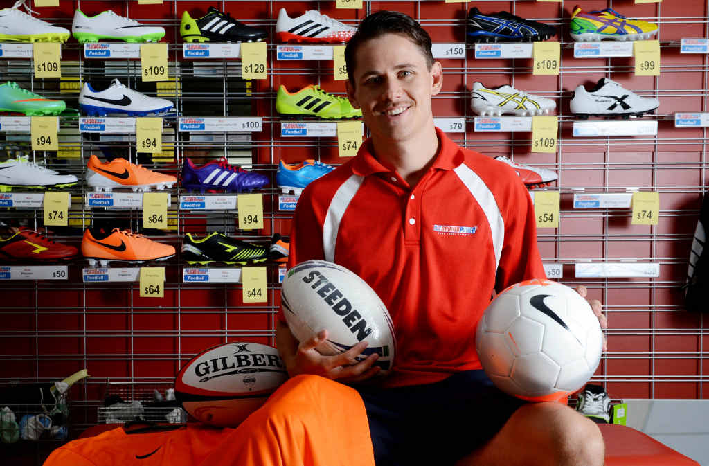 GOOD DEAL: Myles Burgess, teamwear manager at Sportspower Ballina/Lismore, is proud of the store's new service.