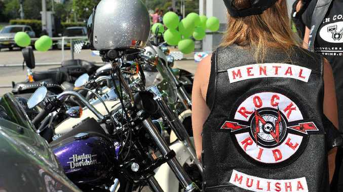 HELPING KIDS: The Rock N Ride group rolled into Lismore yesterday.