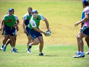 Campese and Canberra cohorts having a crack during Coffs camp