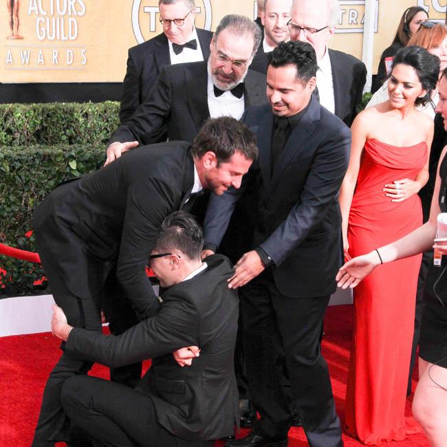 Bradley Cooper pranked at SAG Awards.