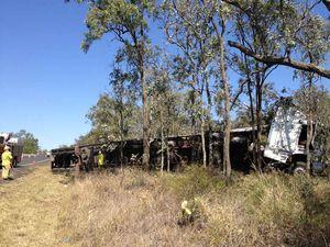 Gore Highway truck rollover