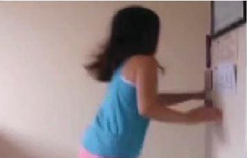 Cameryn Cowley runs as an earthquake hits New Zealand