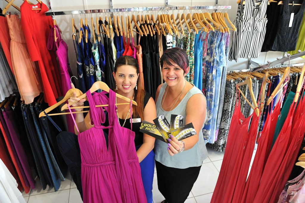Divine Avenue owner Amber Baumgart (with Ros Waters, right) will be opening her store in Rockhampton.
