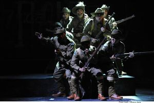 A scene from the play Black Diggers during its opening season at the Sydney Opera House. Pic: Branco Gaica.