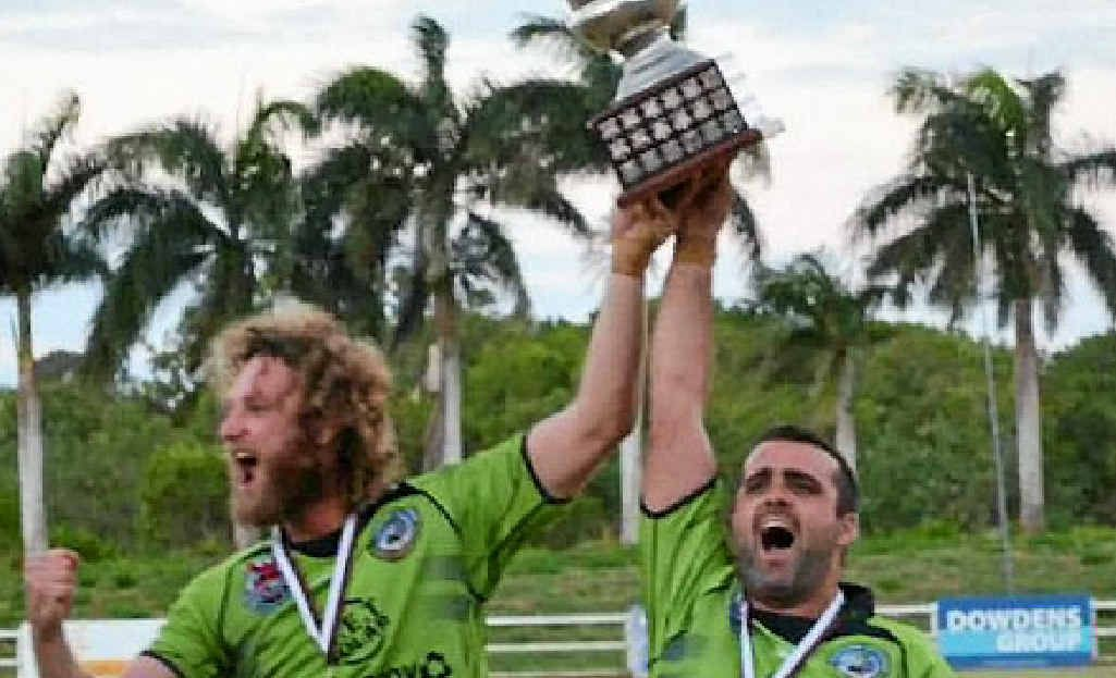 NEW SEASON: The Proserpine-Whitsunday Raiders are holding their season sign-on this Saturday from noon at the Whitsunday Sports Park Pictures are last year's Whitsunday Raiders A grade captains Ron Croker and Trent Elson with the premiership trophy after both the A grade and reserve grade won their grand finals against the Kuttabul Camelboks.