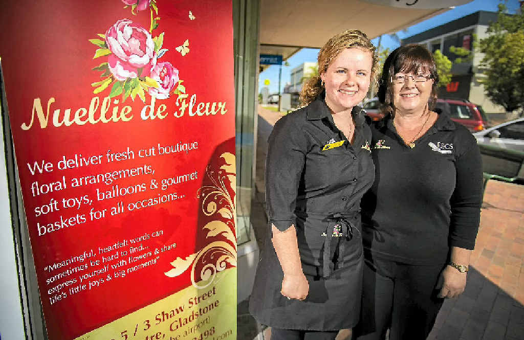 OPPORTUNITY: Store manager Letitia Davis and owner Anne Mounter are delighted to soon be opening Nuellie de Fleur on Goondoon St.