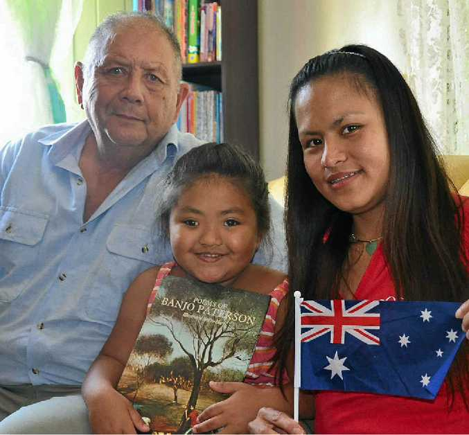 Peter, Connie and Jeanette Sue Tin looking forward to Australia Day.