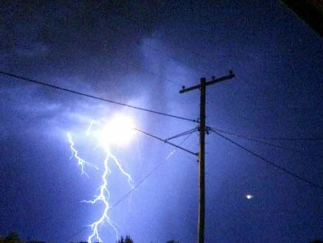 There was plenty of lightning over the Toowoomba suburb of Middle Ridge last night.