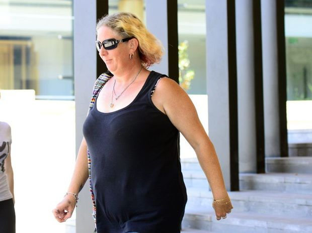 CALLOUS: Debra Louise Pridmore leaves Ipswich Magistrates Court yesterday.