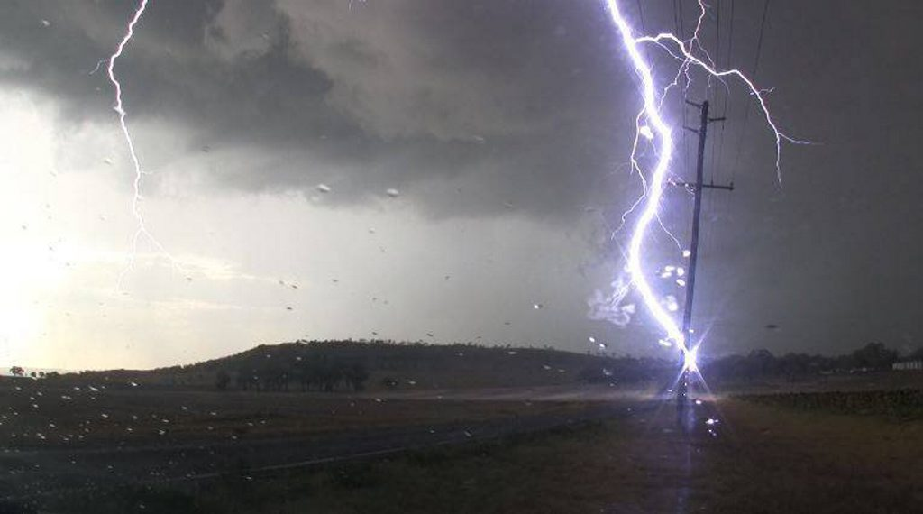 An entire family were hit by lightning strikes in Germany.