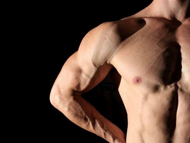 MUSCLE UP: Teens seeking to build a bigger body may be taking dangerous shortcuts. PHOTO: BLAINEY WOODHAM