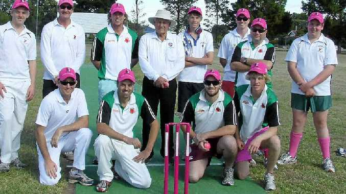 The Allora Cricket club side defeated the Allora Invitational Cavaliers in a past Glen McGrath Foundation Pink Stumps Day at Allora Oval.